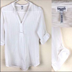 Splendid white 3/4 sleeved blouse.